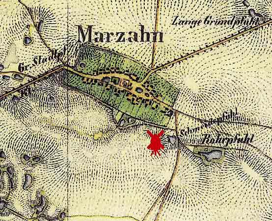 Mühlenstandort Marzahn um 1830